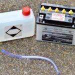 Lemerült autó akkumulátor